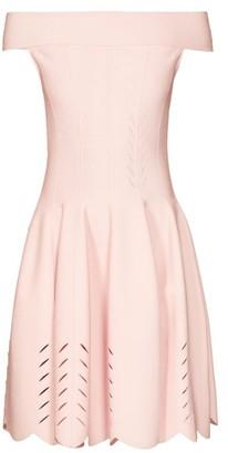 Alexander McQueen Off-the-shoulder Knitted Dress - Light Pink