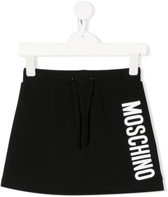 Moschino Kids printed logo skirt