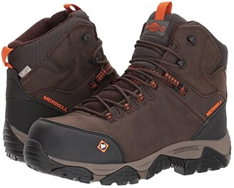 Merrell Work Phaserbound Mid Waterproof CT (Espresso) Men's Work Lace-up Boots
