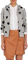 Comme des Garcons Women's Heart-Appliquéd Cotton Zip-Front Hoodie