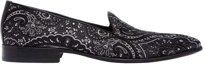 Etro Paisley Silk Jacquard Loafers
