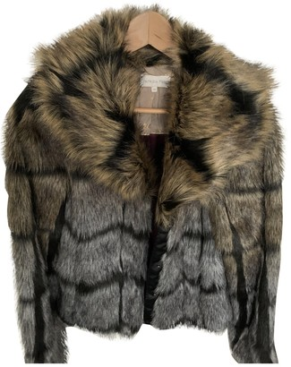 Patrizia Pepe Grey Faux fur Coat for Women