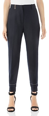 Peserico Cropped Virgin Wool-Blend Jogger Pants