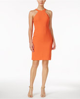 Calvin Klein Scuba Crepe Halter Sheath Dress
