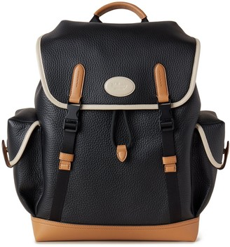 Mulberry New Heritage Backpack Chalk, Black and Sable Heavy Grain