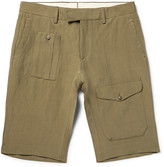 Ralph Lauren Purple Label - Linen And Silk-blend Cargo Shorts