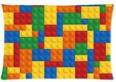 Lego Custom Brocks Pattern Bricks Background 20x30 inch Twin Sides Zippered Pillowcase Pillow Covers