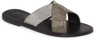 Schutz Amariles Crystal Embellished Slide Sandal