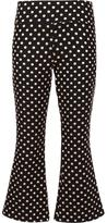 Nicole Miller metallic polka dots trousers - women - Nylon/Polyester/Metallic Fibre - 2