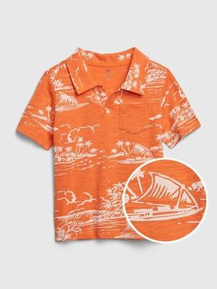 Gap Toddler Graphic Polo Shirt Shirt