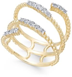 Macy's Diamond Beaded Wrap Wring (3/8 ct. t.w.) in 14k Gold