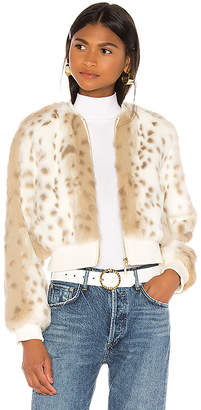 The Jetset Diaries Love Me Faux Fur Bomber Jacket