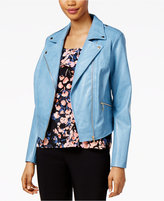 Thalia Sodi Faux-Leather Moto Jacket, Only at Macy's