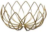 Thirstystone Gold-Finish Lotus-Shaped Wire Bowl