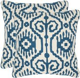 Safavieh Pillow Collection Throw Pillows, 12 by 20-Inch, Tennes , Set of 2