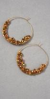 Clustered Bead Hoop Earrings