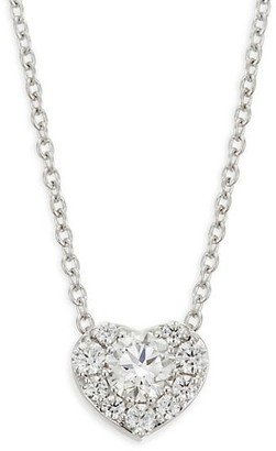 Hearts On Fire Diamond 18K White Gold Heart Pendant Necklace