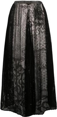 Missoni Wide-Leg Cropped Crochet Trousers