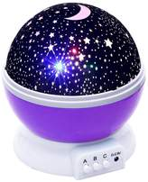 MENG ZHIA AO Night Lights for kids Star Light Rotating Moon Stars Projector Lamp 8 Color Options Romantic Night Lighting Lamp USB Cable / Batteries Powered for Bedroom