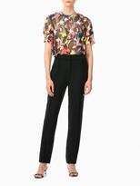 Jason Wu Neon Floral Embroidered Top