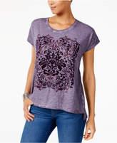Style&Co. Style & Co Velvet Flocked T-Shirt, Created for Macy's