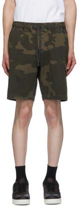 John Elliott Brown Utility Cargo Shorts