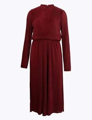 Marks and Spencer Plisse Waisted Midi Dress