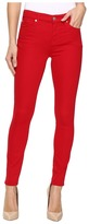 7 For All Mankind The Ankle Skinny w/ Contour Waist Band in Fruit Punch