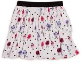 Kate Spade Girls' Monster Print Pebble Crepe Skirt - Sizes 2-6