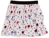 Kate Spade Girls' Monster Print Pebble Crepe Skirt - Sizes 7-14