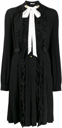 Miu Miu Draped Detail Short Dress