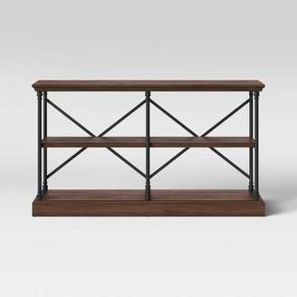 Threshold Conway 2 Shelf Wood Horizontal Bookcase with Cast Iron Frame - ThresholdTM