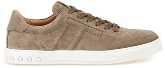 Tod's Embossed T Lace Up Sneakers