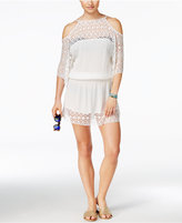 Becca Poetic Cold-Shoulder Crochet Cover-Up Dress