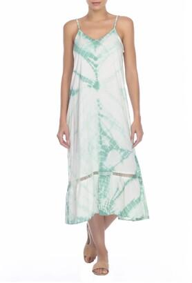 BOHO ME Tie Dye Sleeveless Midi Dress