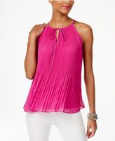 INC International Concepts Petite Pleated Halter Top, Only at Macy's