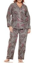 Liz Claiborne Flannel Pant Pajama Set-Plus