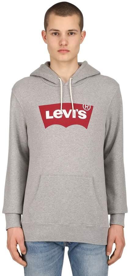 Levi's Logo Printed Cotton Sweatshirt Hoodie