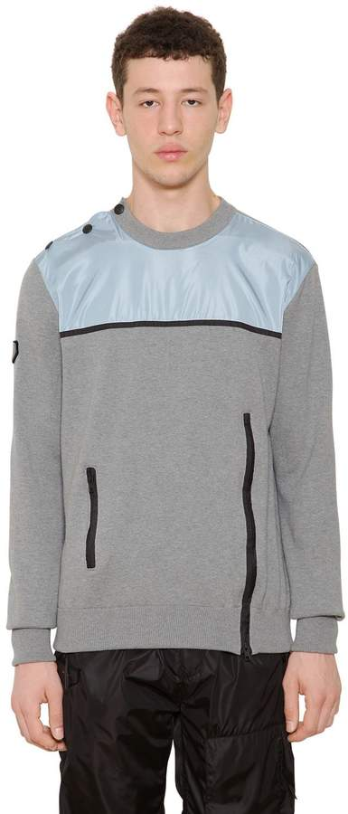 Givenchy Nylon Panel On Cotton Knit Sweater