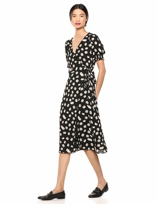 Ali & Jay Women's Stop & Smell The Diasies Midi Wrap Dress