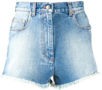 Gucci cherry washed denim shorts
