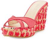 Jimmy Choo Pandora Raffia Wedge Sandal