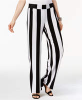 INC International Concepts Striped Wide-Leg Soft Pants, Only at Macy's