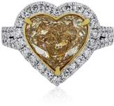 18K Two Tone 4.99ct Heart Shape Diamond Ring