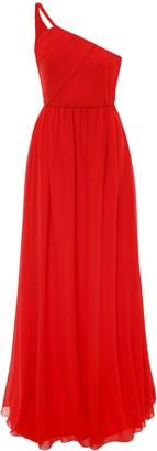 Lanvin Asymmetric Silk Gown
