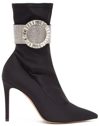 Alexandre Vauthier Joan Crystal-embellished Ankle Boots - Black