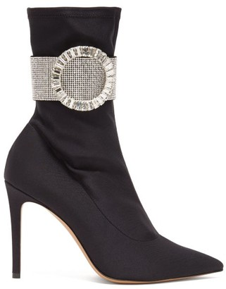 Alexandre Vauthier Joan Crystal-embellished Ankle Boots - Womens - Black