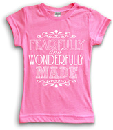 Urban Smalls Hot Pink 'Fearfully & Wonderfully' Fitted Tee - Toddler & Girls