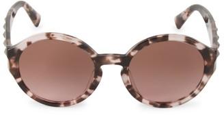 Valentino 52MM Round Rockstud Sunglasses