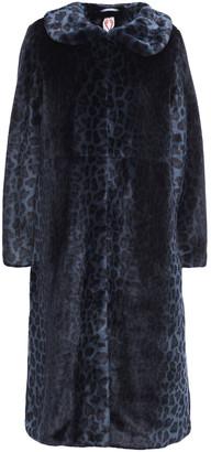 Shrimps Patrick Leopard-print Faux Fur Coat